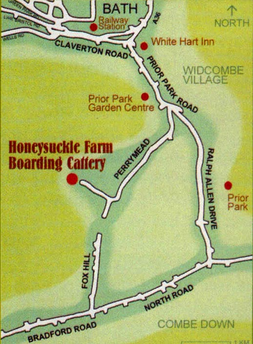 map for Honeysuckle Catery Bath
